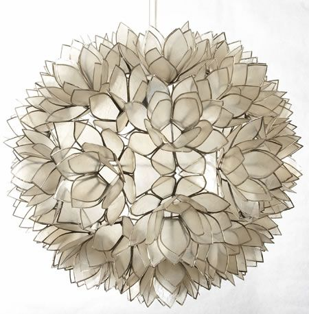 Floral favorites bring spring inside follow us on facebook at http small lotus flower chandelier handmade in thailand of natural capiz shells this is a unique chandelier which will add artistic warmth to any setting aloadofball Images
