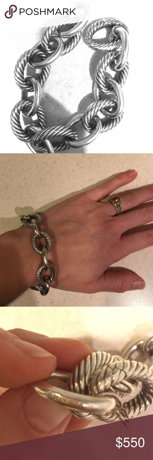 29c515d87 David Yurman Extra Large Oval Link Bracelet Authentic. Preowned. Lightly  worn. Excellent condition. It will come with original case and  certification of ...