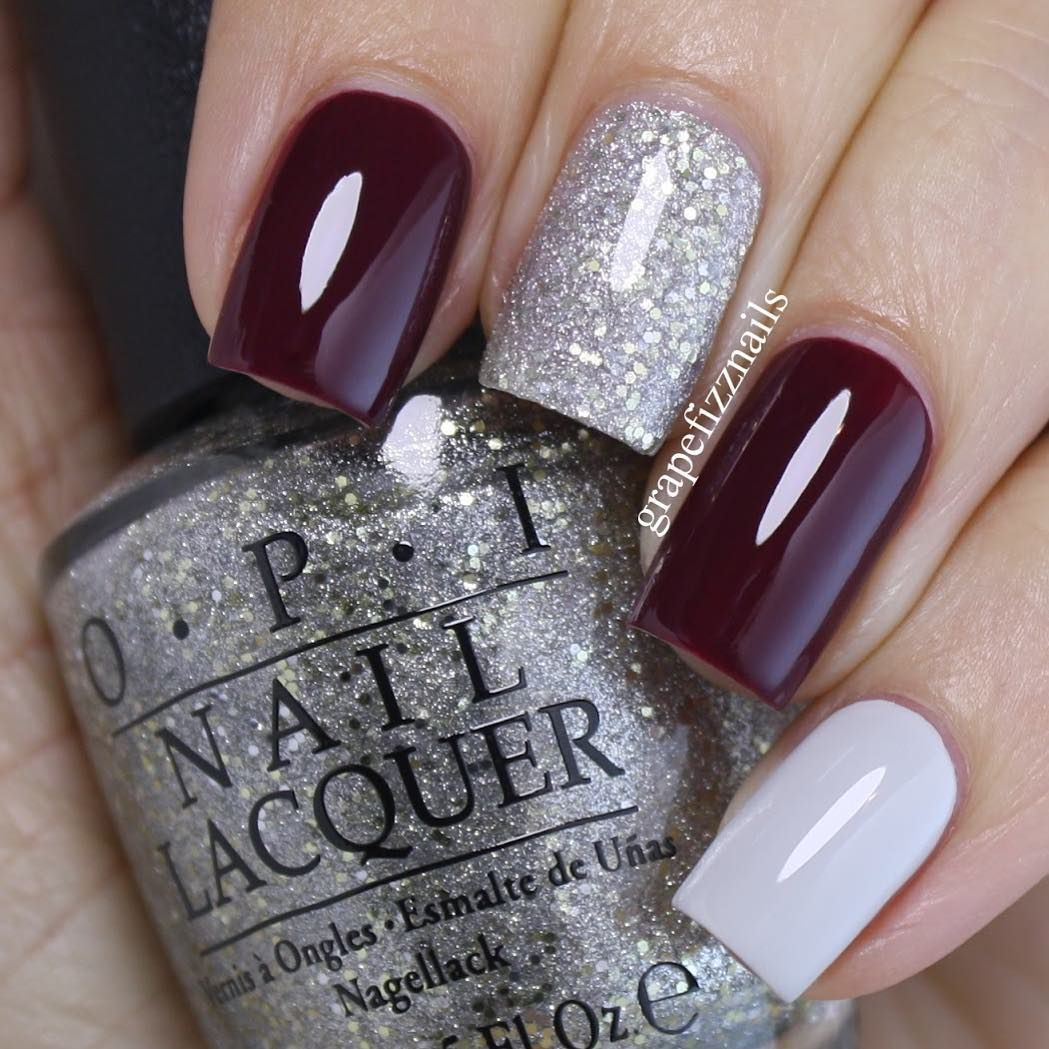33 Pretty Manicure That You Can Easily Do Mix And Match Nail Art Design Painted Nail Art Design Easy Paint Ed Nail Burgundy Nails Simple Nails Trendy Nails