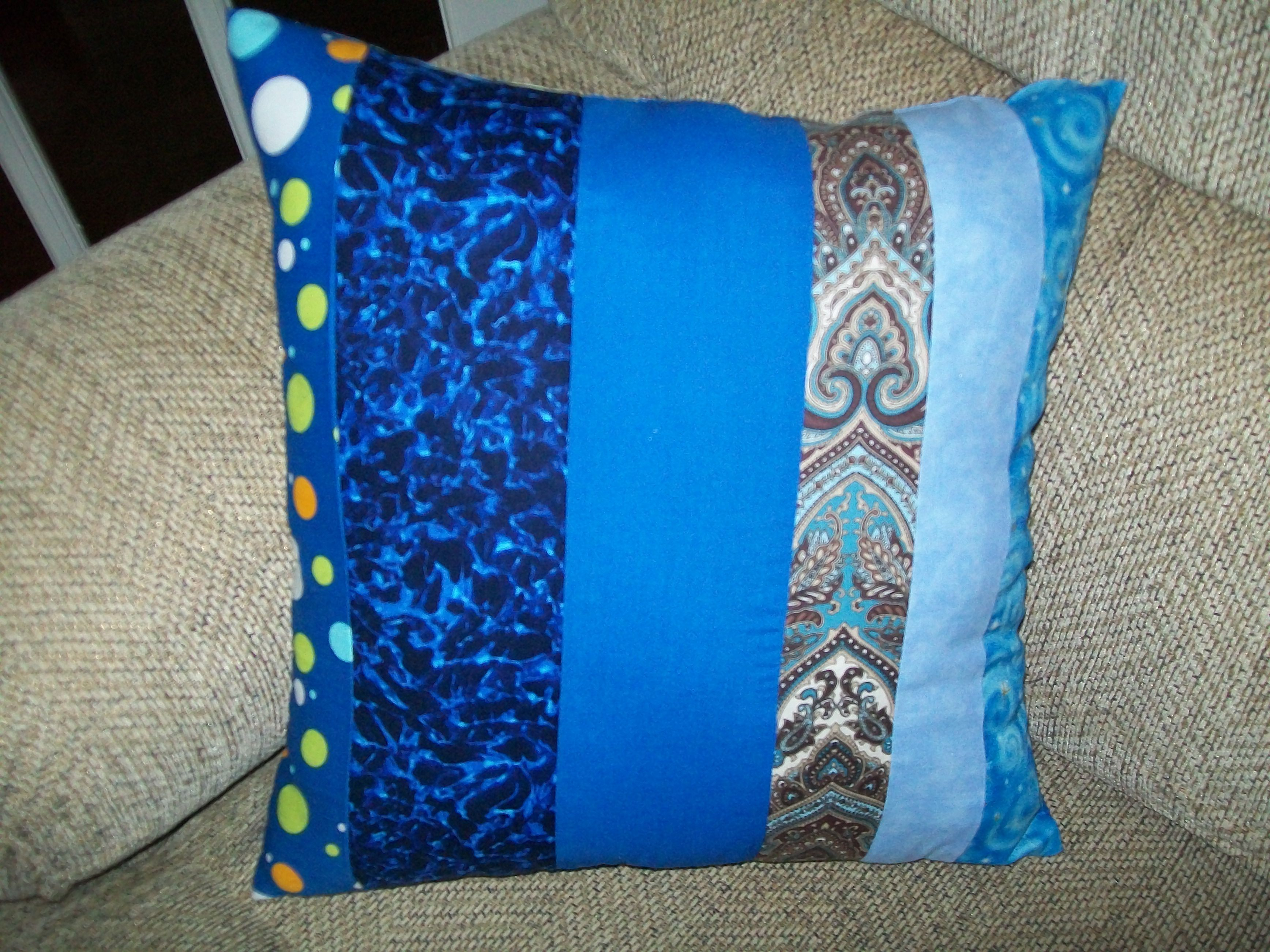 Blue string pillow items iuve sewn or made pinterest