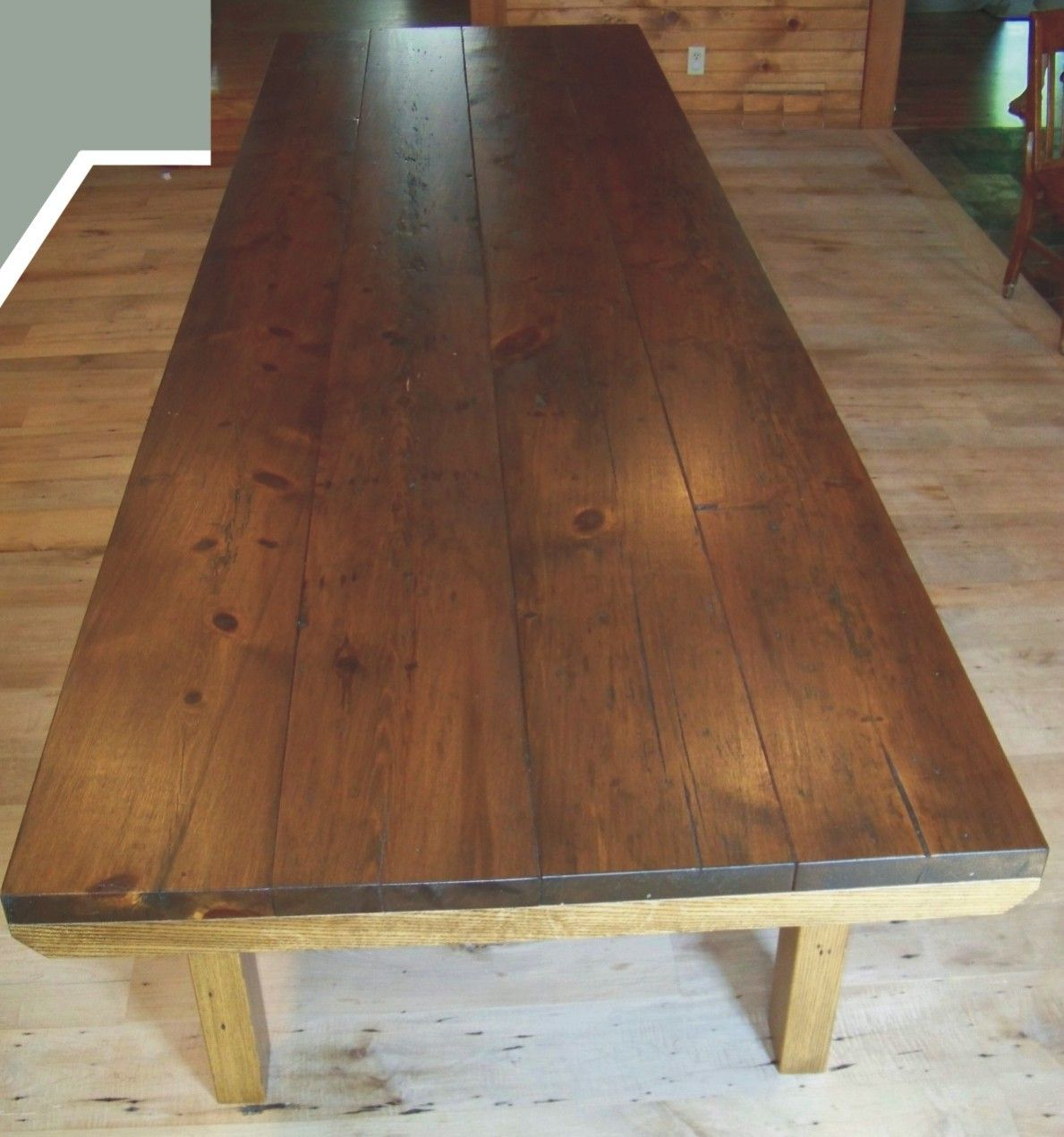 12 Foot Dining Table Staining A Wood Table Home Decor