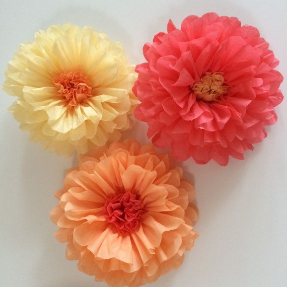 Tissue paper flowers baby shower decoration flower wall bridal tissue paper flowers baby shower decoration flower wall bridal shower flower backdrop tea party decorations pick your colors mightylinksfo