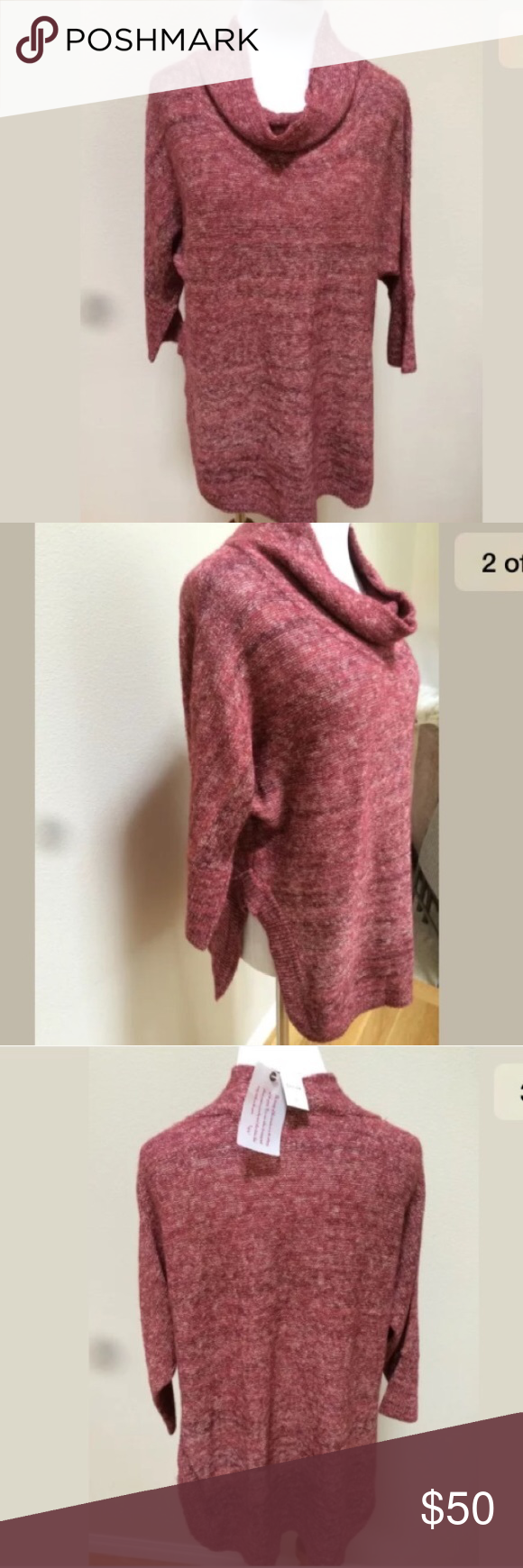NWT Field Flower Anthropologie Red Tunic Sweater NWT | Red tunic ...