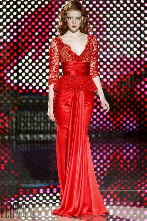 dress red lace E0381 Fashion lace appliqued muslim elegant long ...