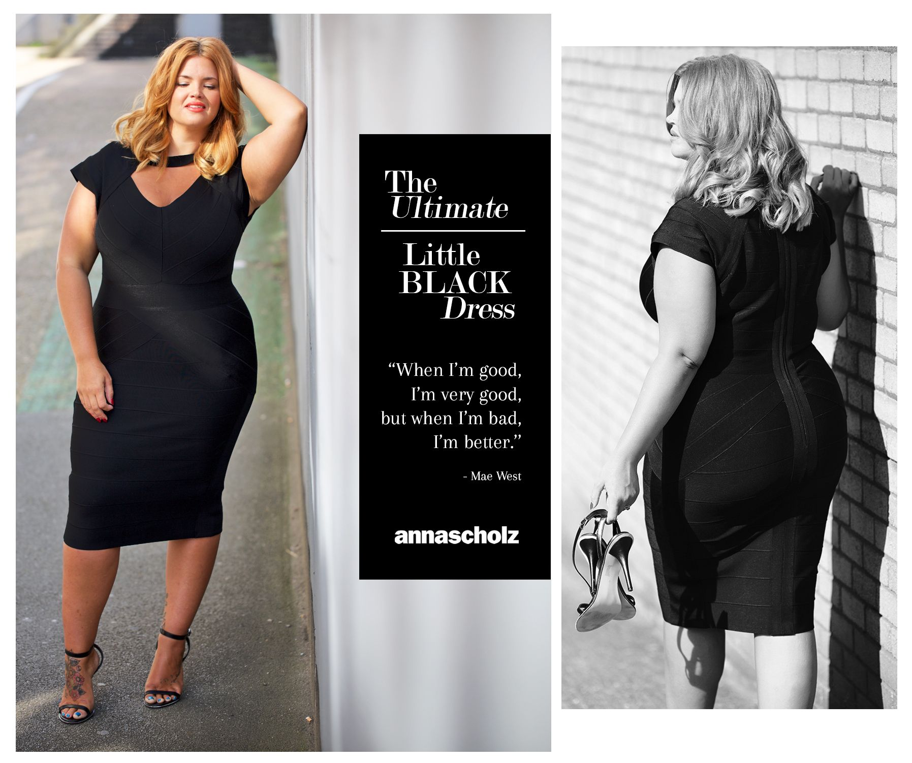 The Ultimate Sexy Black Bandage Dress Plus Size Anna Scholz