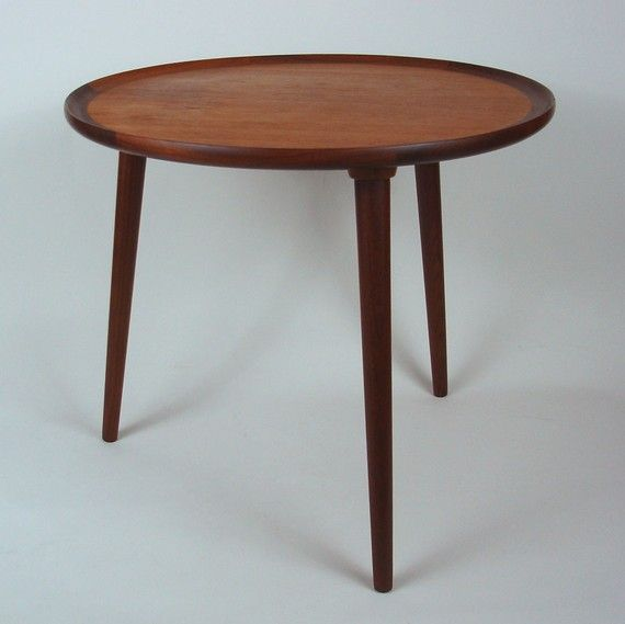 Danish Teak Tripod Table Anton Kildebergs Denmark 1960 S Etsy Tripod Table Table Teak Furniture