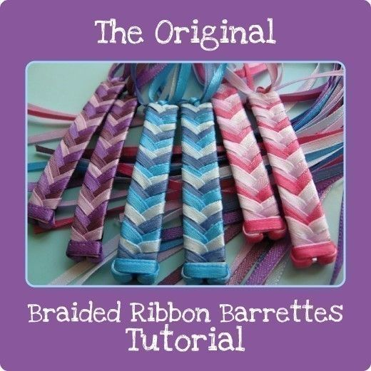 Make Your Own 2 Ribbon And 3 Ribbon Braided Barrettes Pdf Etsy Ribbon Barrettes Ribbon Barrettes Diy Diy Hair Accessories