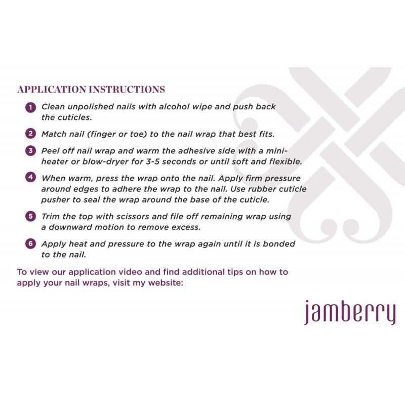 Application Instructions For Jamberry Nail Wraps Noelgiger