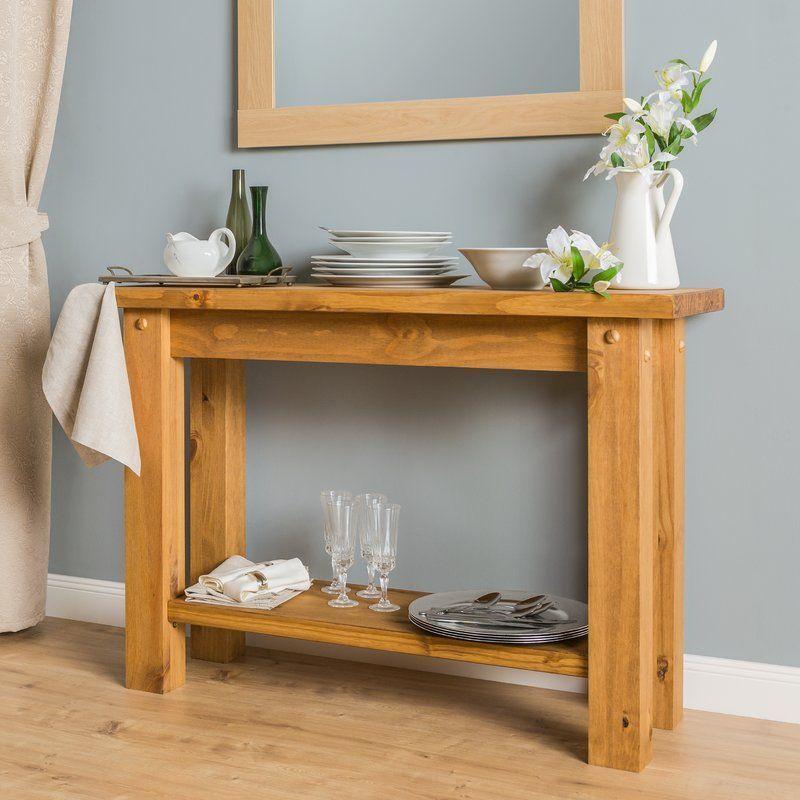 hallway desk furniture. Wooden Console Table Waxed Pine Wood Brown Rectangular Hallway Office Furniture Desk