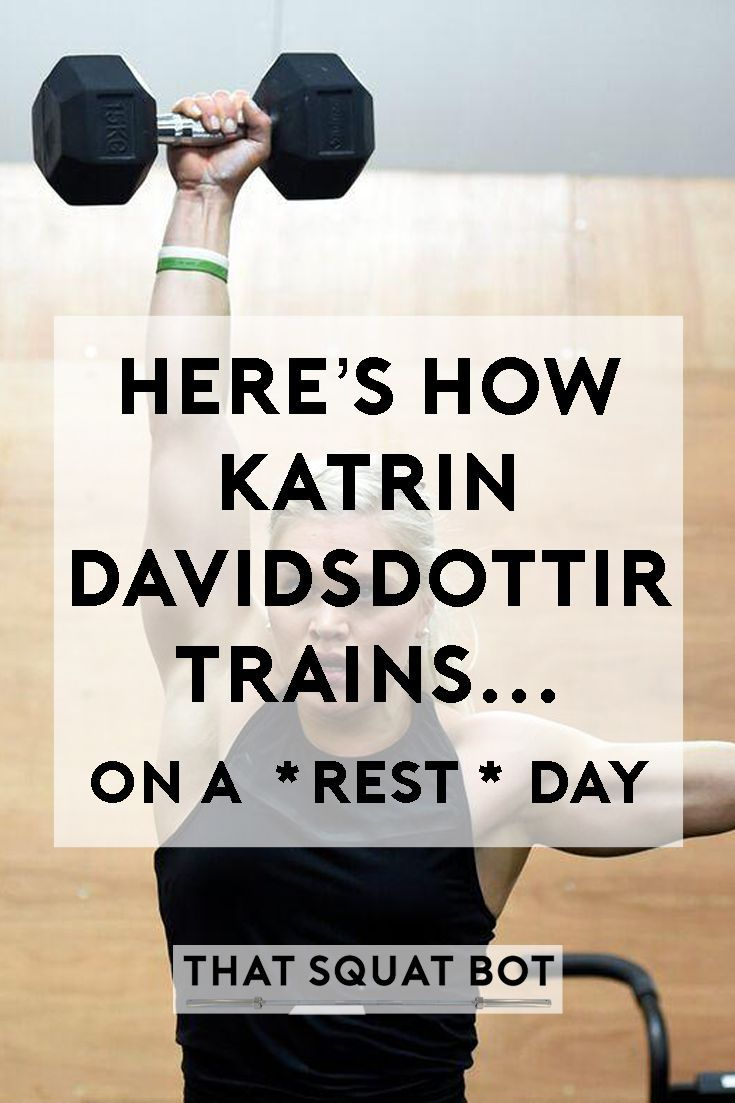 ed75419bb4bd How does two-time CrossFit Fittest Woman on Earth Katrin Davidsdottir train..  on a REST day ! Find out now!