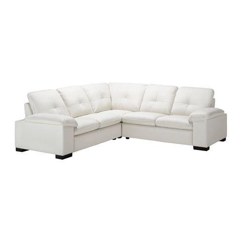 ikea - dagstorp, corner sofa 2+2, laglig white, , seat cushions, Hause deko