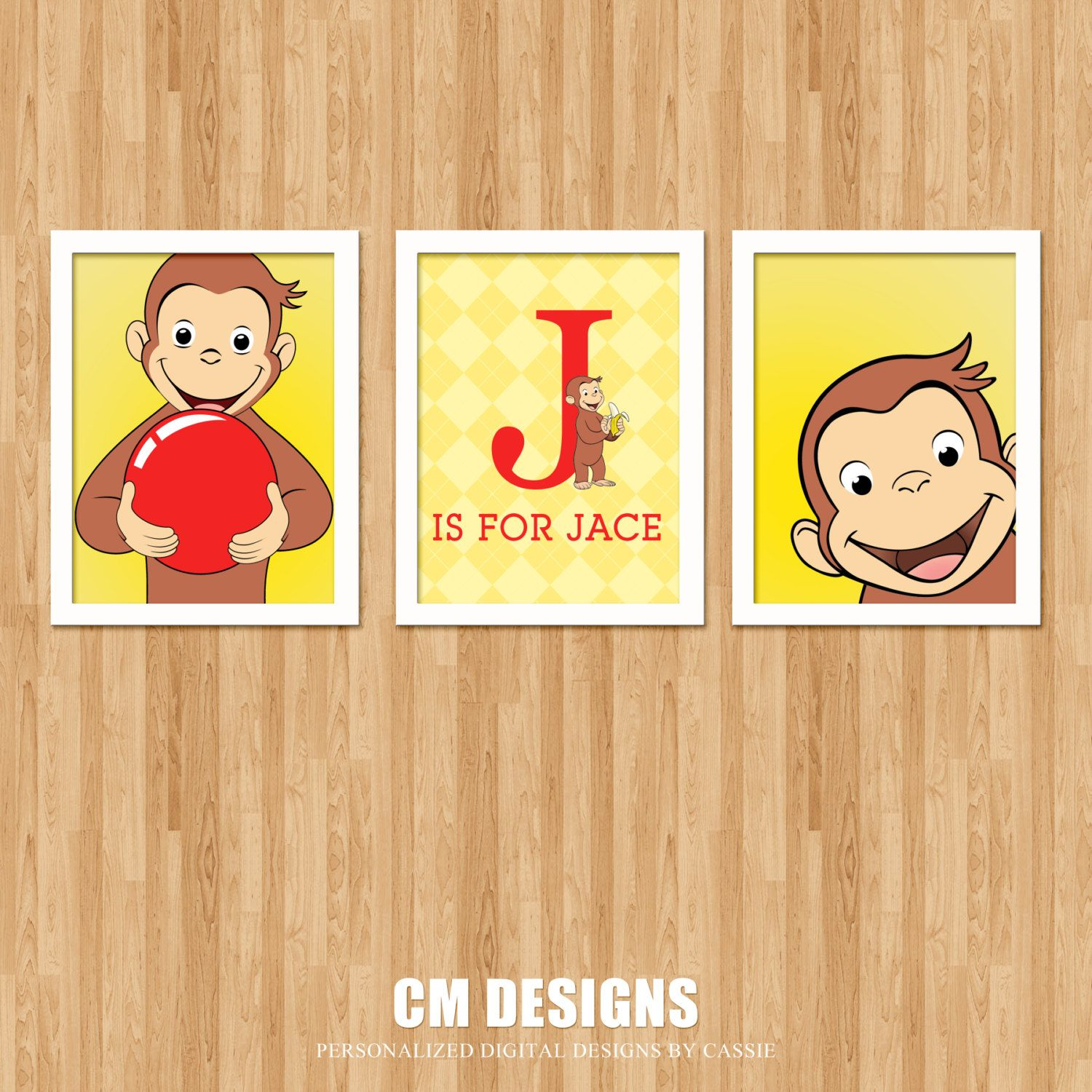 Curious George Wall Art By DesignsbyCassieCM On Etsy, $12.99 Part 76