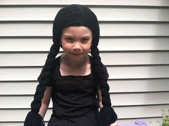 Black Pigtail Wig Kids Halloween Halloween Costume Kids