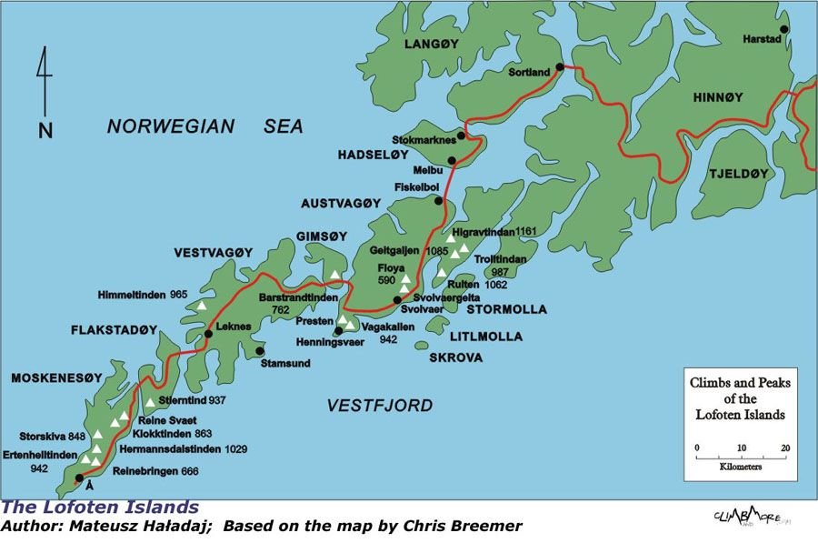 Lofoten Islands Map lofoten islands, norway | There are several ways of getting to the