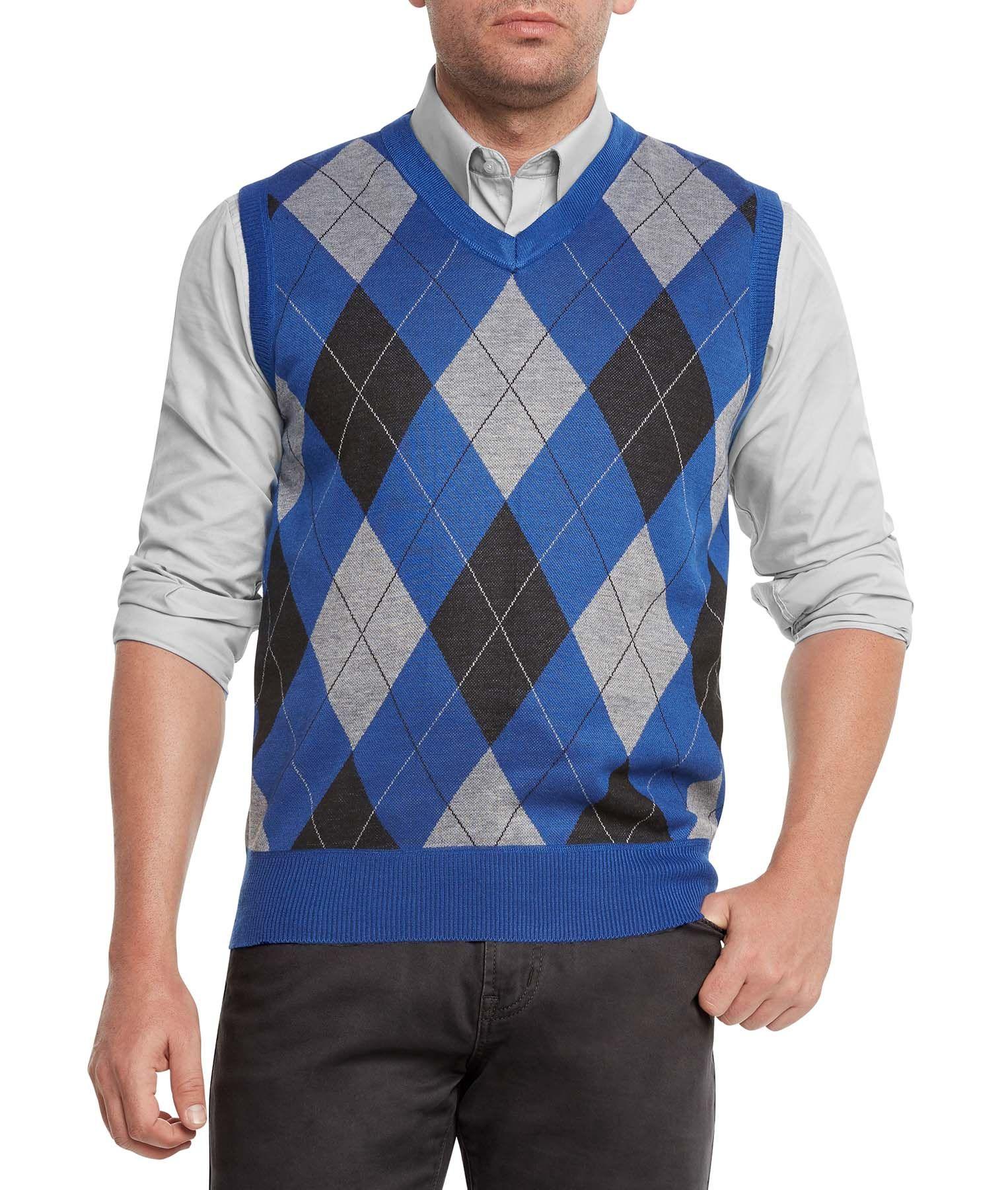 a15dd862c Free Shipping. Buy True Rock Men s Argyle V-Neck Sweater Vest at ...