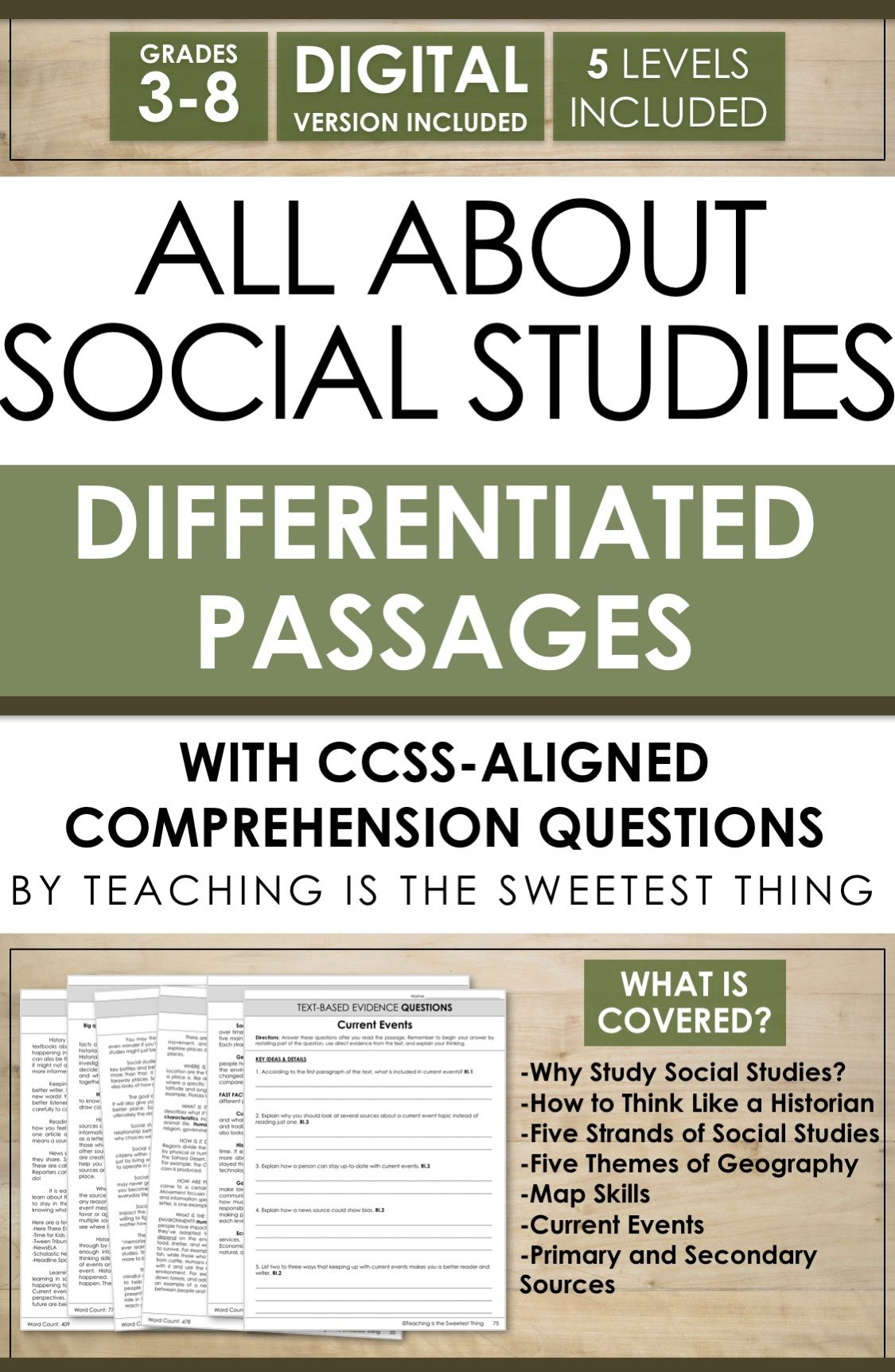 Differentiating Instruction Integrating Social Studies Into Reading
