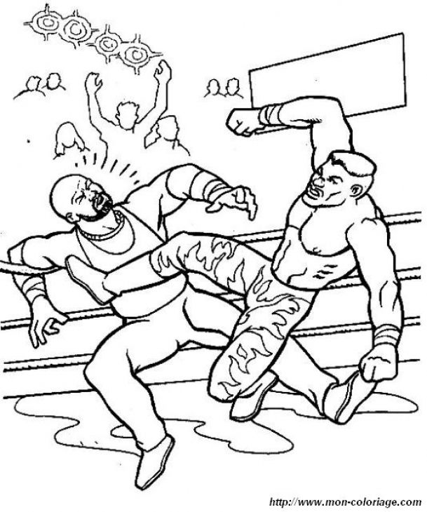 WWE Smackdown Free Printable Coloring Sheet Sports Coloring