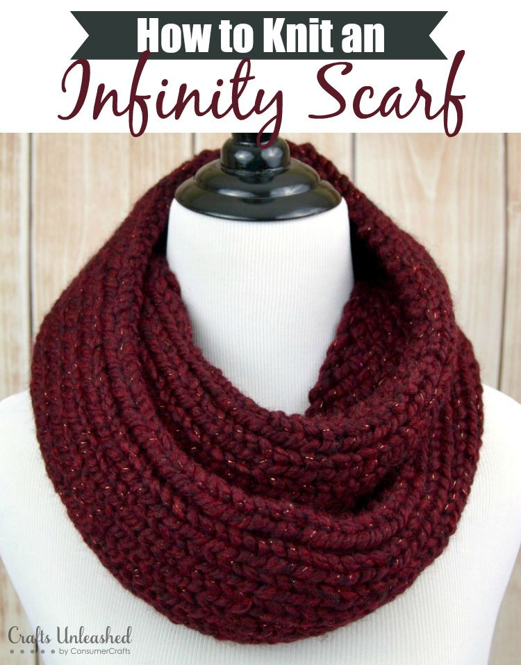 How to Knit an Infinity Scarf - Crafts Unleashed | 2 | Pinterest ...