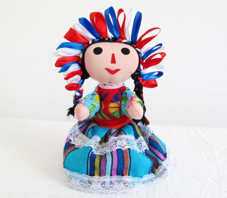 Mexican Handmade Rag Doll by MEXNIA on Etsy