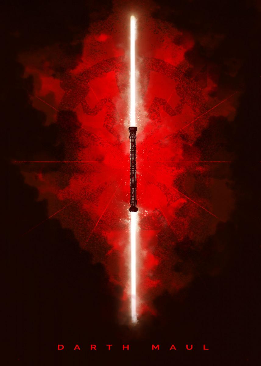 Darth Maul Poster Art Print By Star Wars Displate In 2021 Star Wars Background Star Wars Wallpaper Star Wars Poster