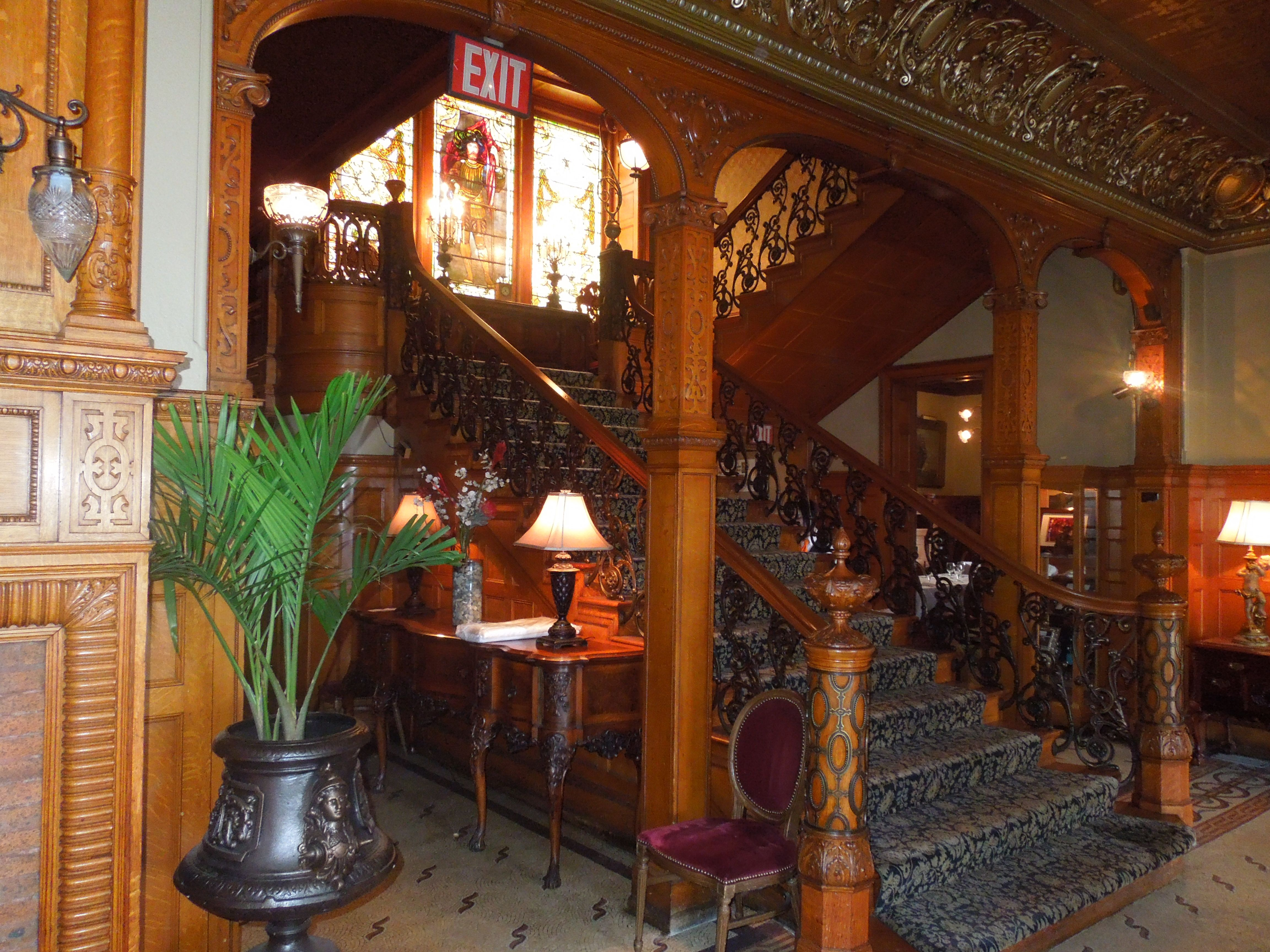 Rushmead Historic House The Grand Staircase At The Whitney Mansion In Detroit