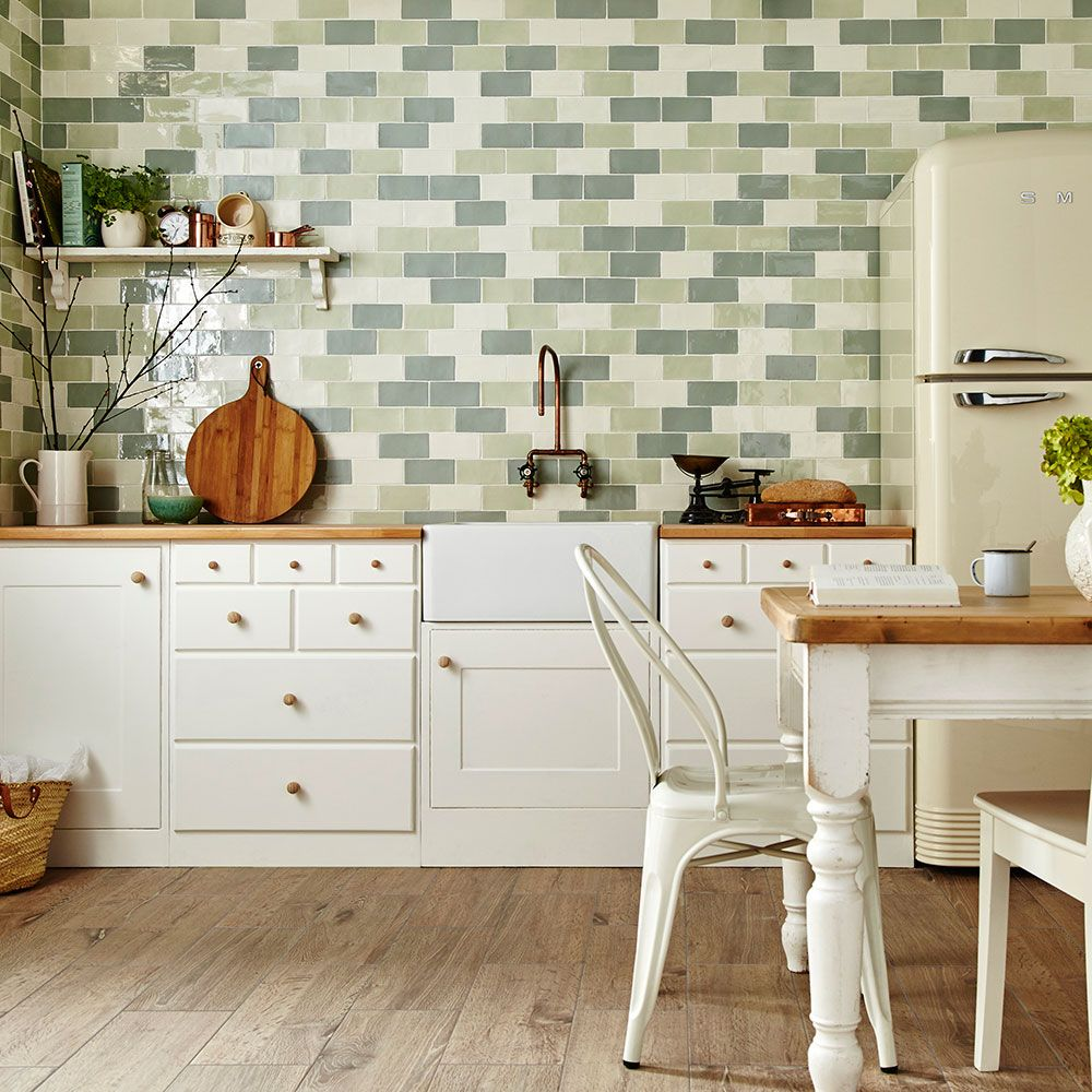Bring some spring greens into your home with these for Perfect tiles for kitchen