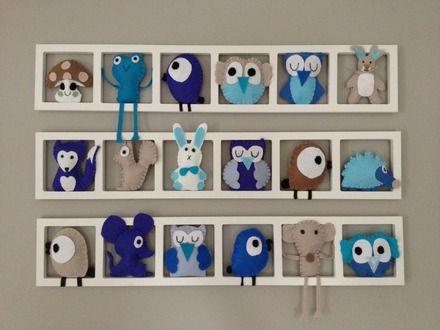 Cadre mural décoration chambre enfant composé de figurines en ...