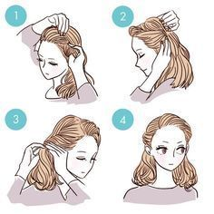 Más de 20 tutoriales fáciles de peinado de bricolaje en 3 minutos – peinados #diyhairstyles 20+ …