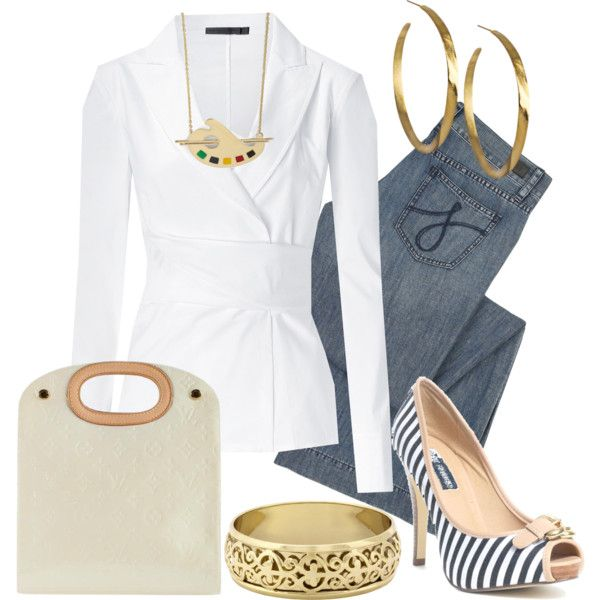 """Una simple camisa blanca"" by outfits-de-moda2 on Polyvore"