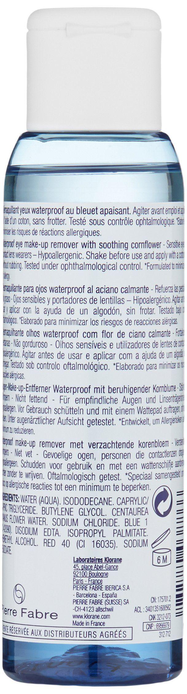 Klorane Waterproof Eye MakeUp Remover with Soothing