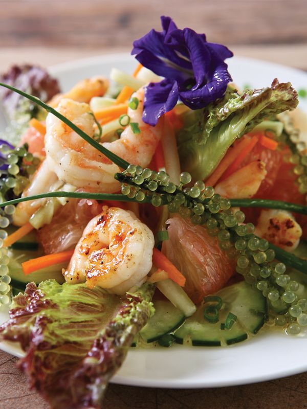 Shrimp and Pomelo Salad by Chef Tatung Sarthou