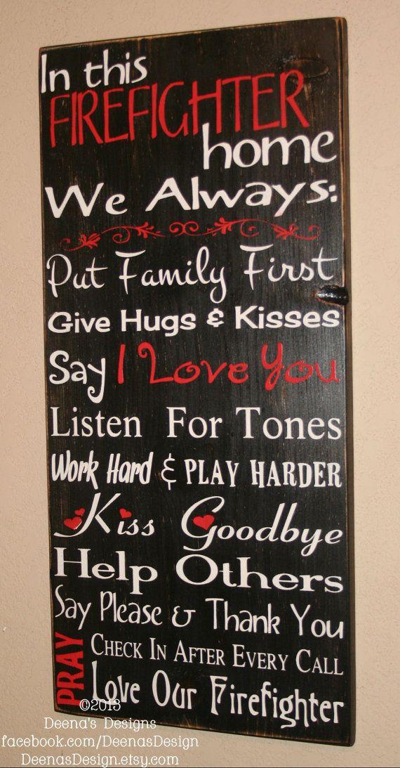 Firefighter House Rules By Deenasdesign On Etsy Https Www Facebook 60 00