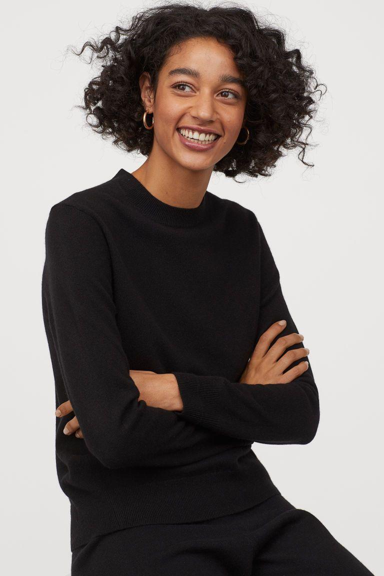 Cashmere Sweater Black Ladies | H&M US | Kasjmier, Trui