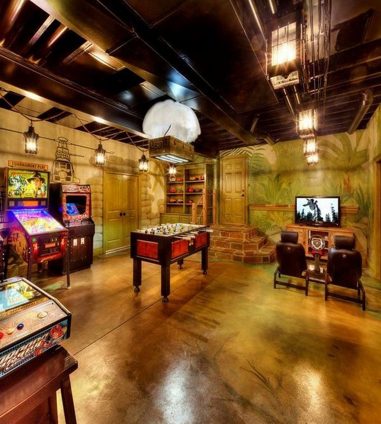 Luxury Man Cave Game Room Bar With Images: Seriously Next Level Man Caves (29 Photos)