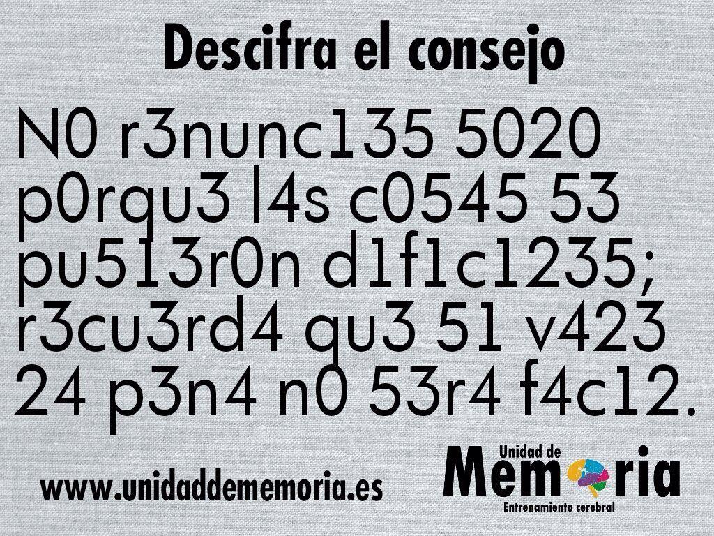 A Descifrar Juegos Mentales Imagenes Ejercicios Para La Mente Ejercicios De Agilidad Mental