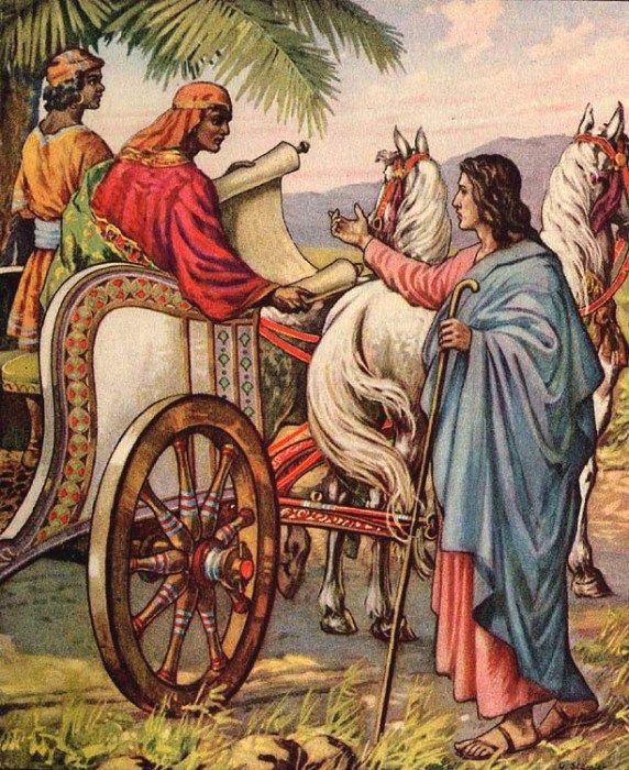 Illustration Of Philip And The Ethiopian Philip The Evangelist
