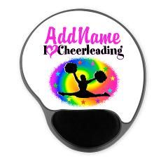 Pretty personalized I Love Cheerleading rainbow design on Tees and gifts from www.cafepress.com/sportsstar #Cheerleading #Cheerleader #Cheerleadinggifts #Ilovecheerleading