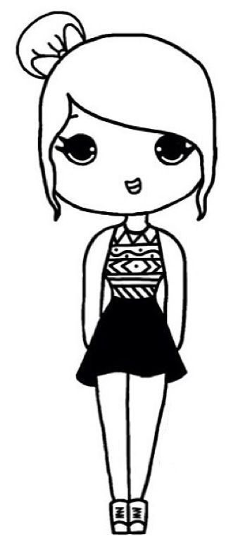 Pin By Stephanie Knowles Keenan On Art Chibi Girl Drawings Easy
