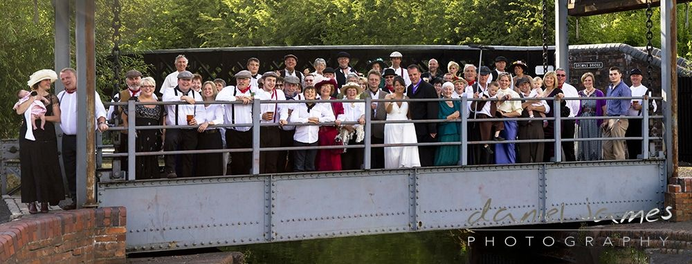 Full Group Wedding Photo The Black Country Living Museum Dudley