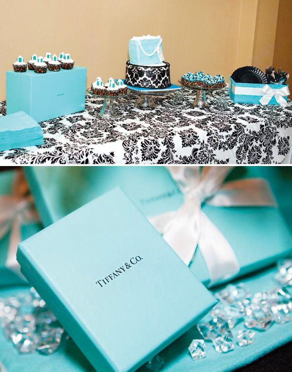 Tiffany Themed 30th Birthday Brunch Breakfast at Tiffanys