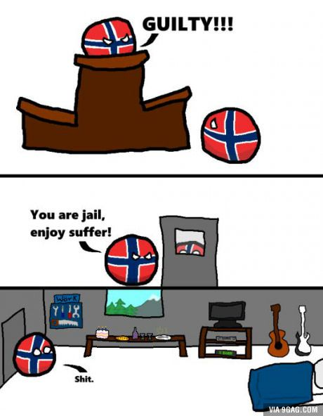 Countryball Norway Jail
