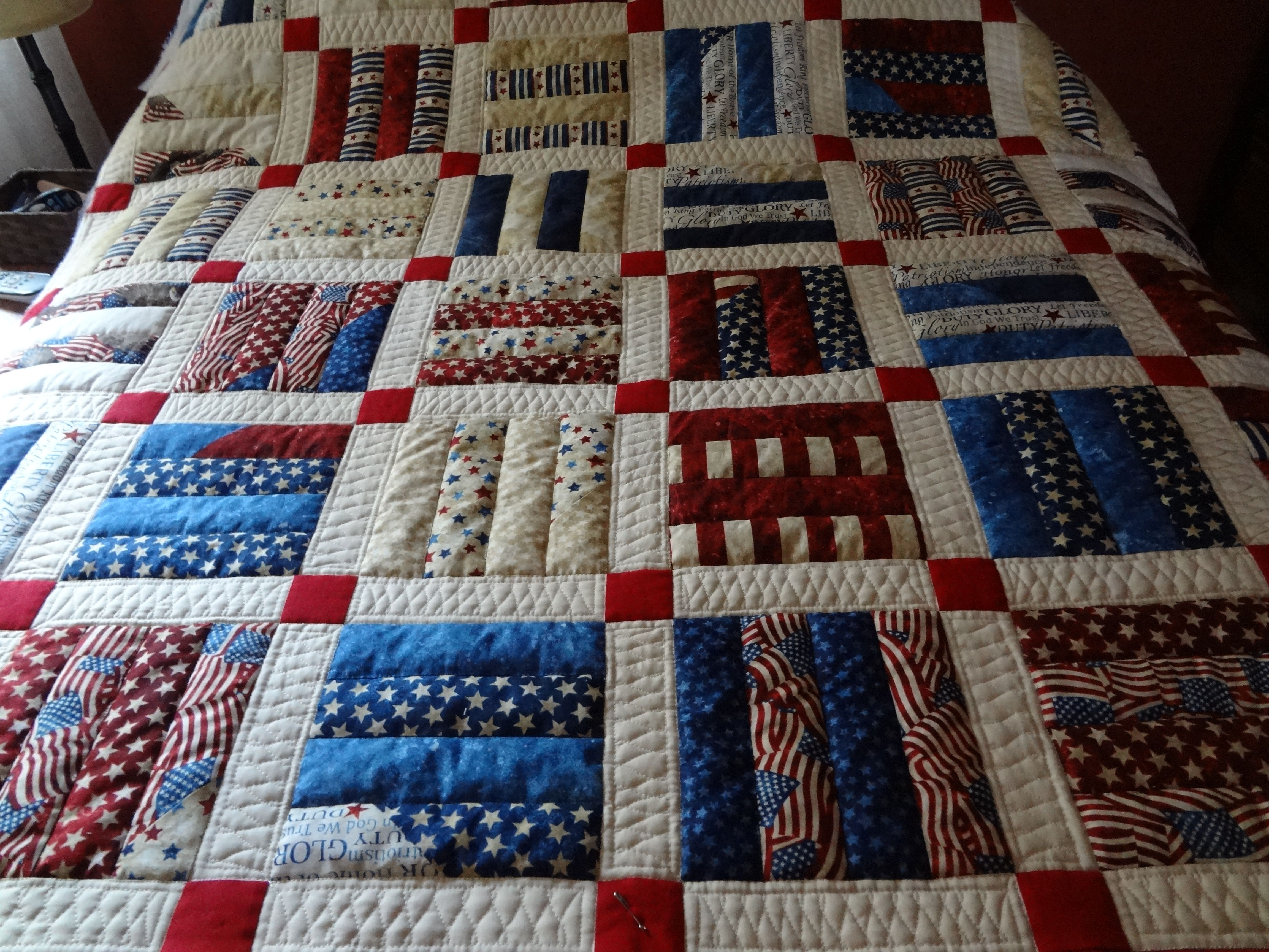 Rail Fence Pattern With Sashing And Cornerstones Quilt Patterns Quilting Designs Quilts