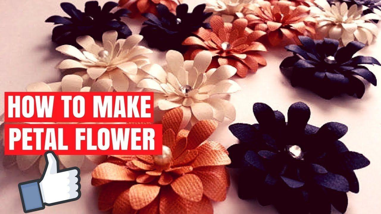 Origami Petal Flower How To Fold Origami Petal Flower Diy Petal