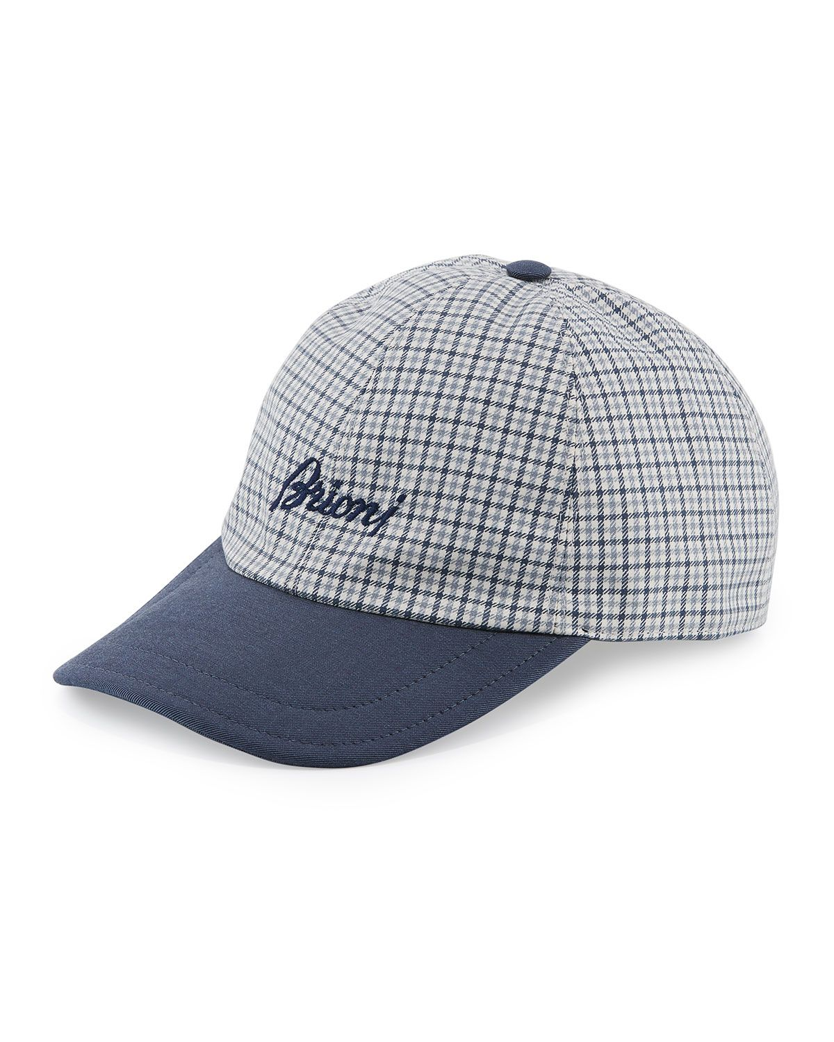 8bcb3b53c8f Brioni Checkered Baseball Cap