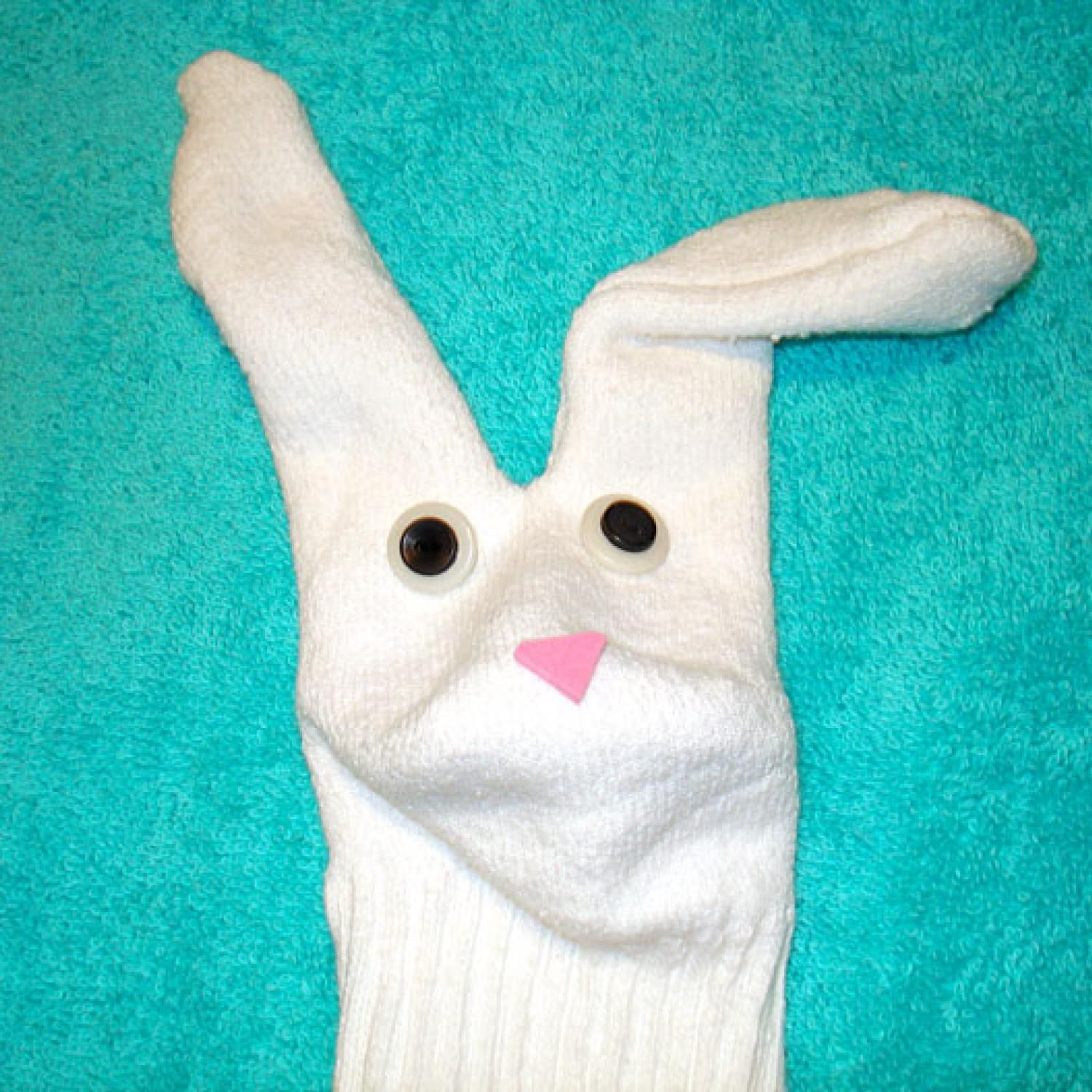Easter Bunny Sock Puppet