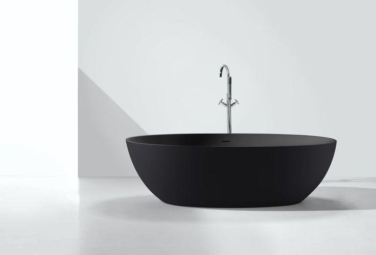 Mineral cast bathtub DUCTILO-black (freestanding)