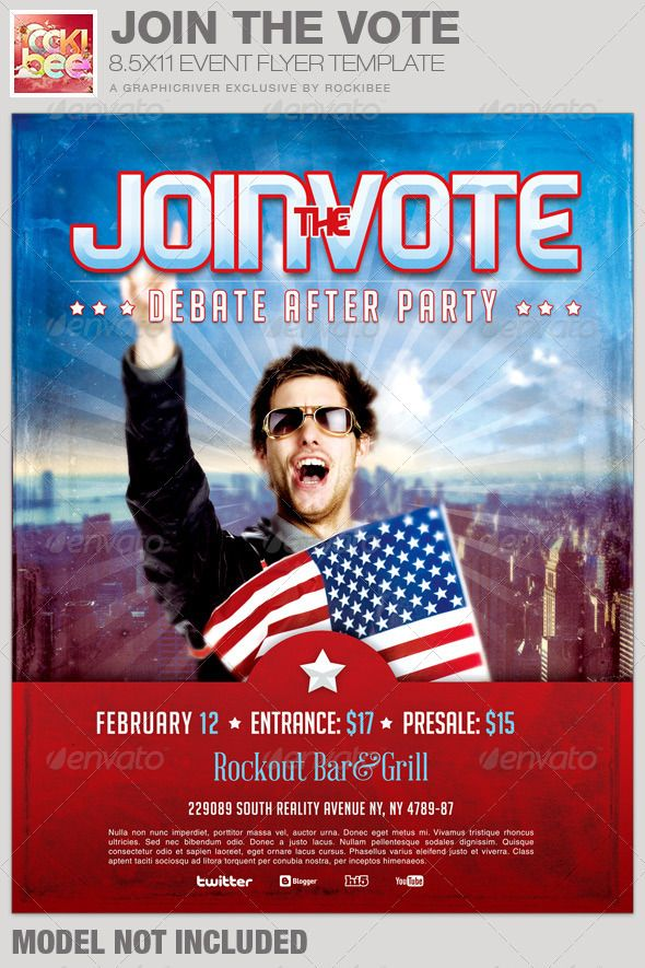 17 Best images about Political Flyer Template on Pinterest | Fonts ...