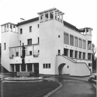Villa Karma (1904-1906) Montreux. Architectes : Adolf Loos et Hugo Ehrlich.  Façade sur jardin.