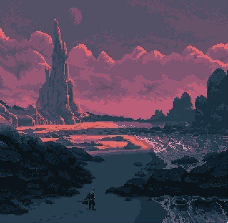 Pixel Art Landscape, Pixel