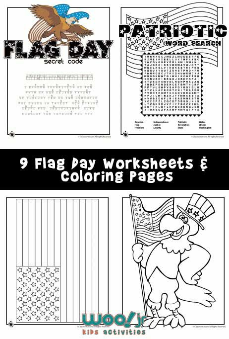 Flag Day Word Search and Printable Worksheets Mazes, Silly Fun - word flag